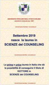 Locandina Laurea Scienze del Counseling 1