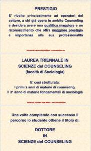 locandina laurea in scienze del counseling 4